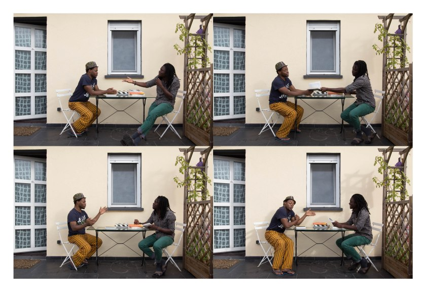 Discussing Achebe, from the series: Indecisive Moments, Emeka Okereke, 2013